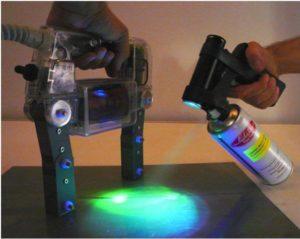 LED UV TORCH WITH SPRAYING KIT